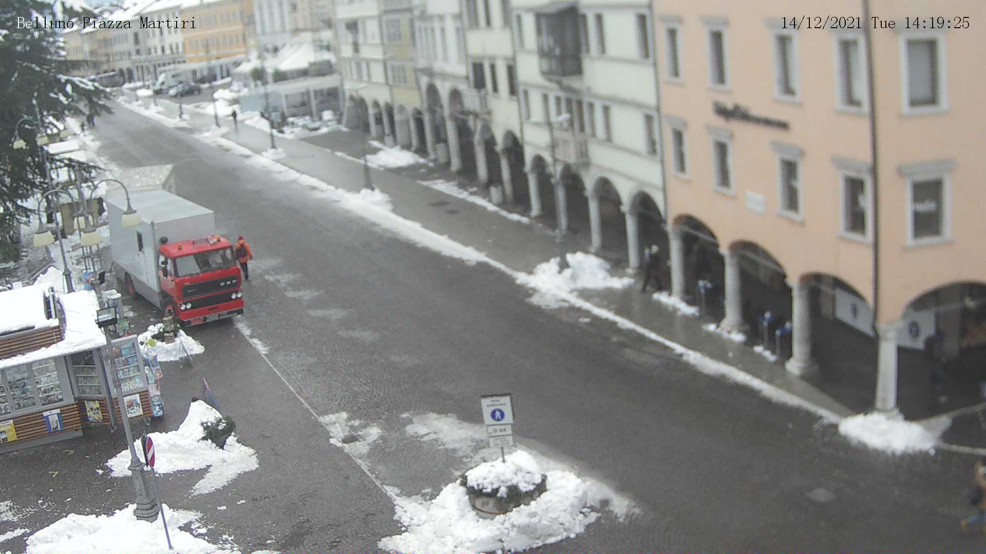 Webcam Comune di Belluno: piazza dei Martiri